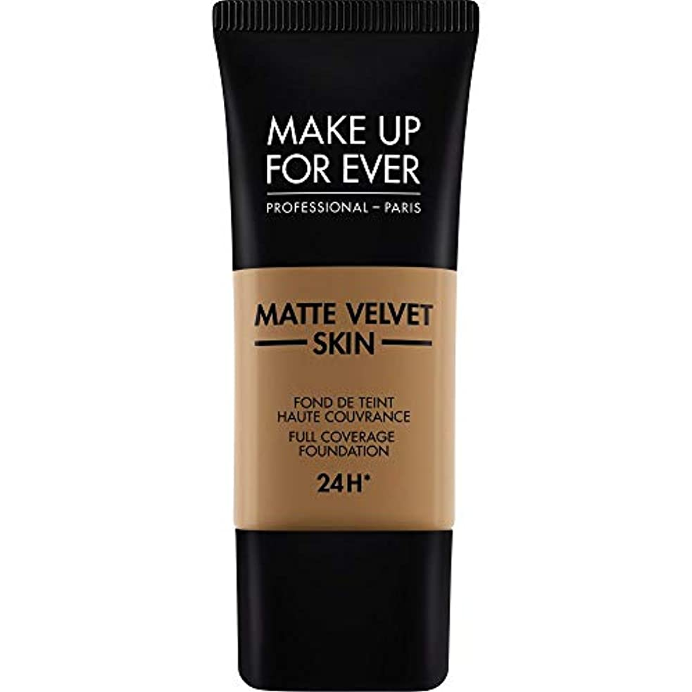 診療所五十亡命[MAKE UP FOR EVER ] これまでマットベルベットの皮膚のフルカバレッジ基礎30ミリリットルのY505を補う - コニャック - MAKE UP FOR EVER Matte Velvet Skin Full...
