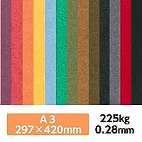 厚紙カラーペーパー『ケンラン(特色) 225Kg(=0.28mm)』 A3(297×420mm) 20枚【印刷・工作・名刺・カード・紙飛行機・ペーパークラフト】 ちゃ