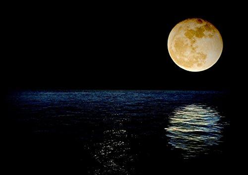絵画風 壁紙ポスター (はがせるシール式) 月 スーパームーン 満月 天体 ...