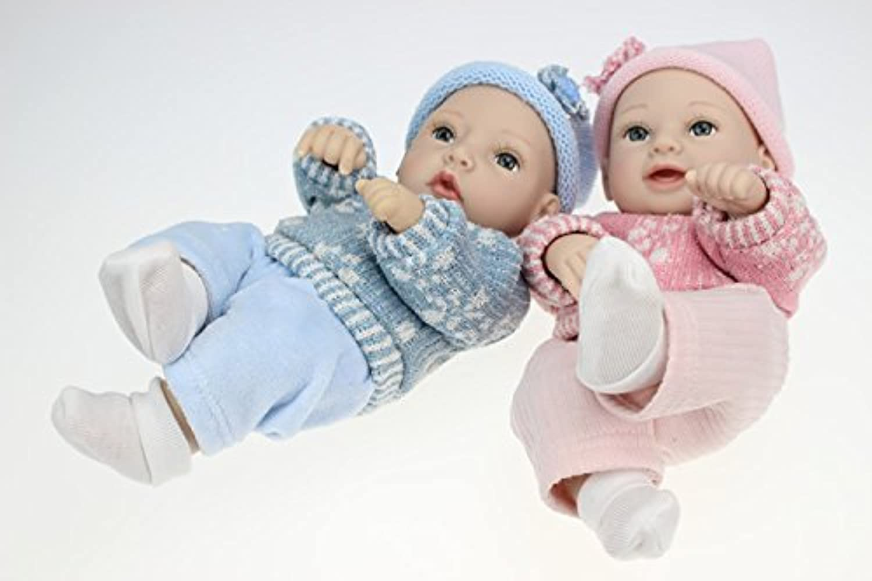 28CM リボーンドール ベビードール きせかえ人形 お人形 新年プレゼント 誕生日プレゼント (Blue)