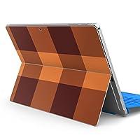 Surface pro6 pro2017 pro4 専用スキンシール サーフェス ノートブック ノートパソコン カバー ケース フィルム ステッカー アクセサリー 保護 チェック・ボーダー チェック ブラウン 004451