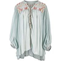 Boho Bird Womens Jackets Drifting Away Throw Jacket Pistachio - Coats