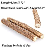 Lowis Lily Cat Toys - 20pcs Cat Cleaning Tooth Natural Catnip Pet Molar Toothpaste Stick Actinidia Fruit Silvervine Snack - Fiddle Guy Computed Axial Tomography Dog Vomit Play Retch Diddle