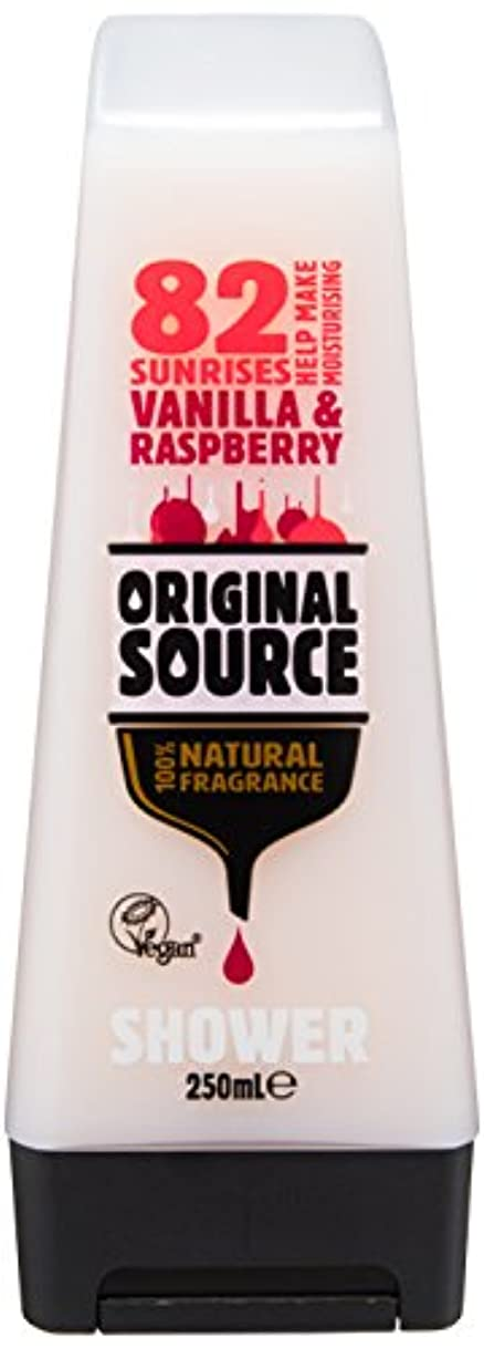 事実ガラス贈り物Cussons Vanilla Milk and Raspberry Original Source Shower Gel by Cussons