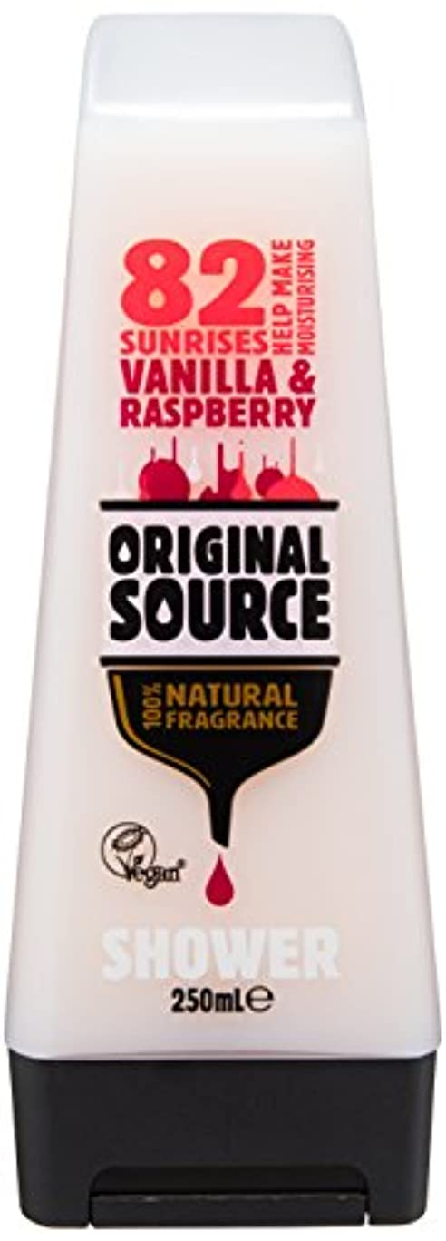 スプーン有害な儀式Cussons Vanilla Milk and Raspberry Original Source Shower Gel by Cussons