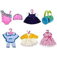 人形Bathing Suit Set & Clothes 7パック13 – 18インチ人形Clothes
