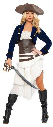 ローマコスチューム ROMA COSTUME コロニアルパイレーツ 海賊 衣装、コスチューム DLX 大人女性用 Colonial Pirate Sサイズ