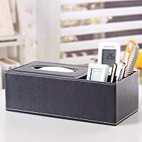 JJD ティッシュボックス多機能PUレザーホーム実用車の紙箱収納ボックス (Color : 005)