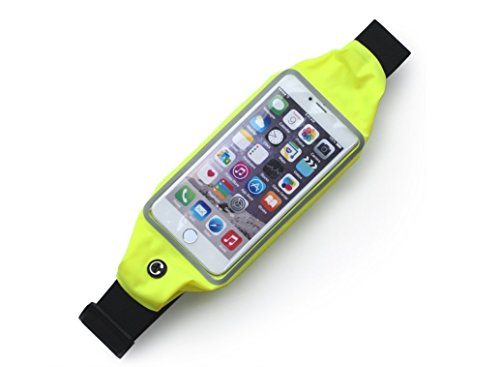 D-drempating ランナー ベルト ポーチ 生活防水 伸縮可能 高弾性 反射素材 夜間 スマートフォン iphone plus ウエスト バッグ 5.5インチ ジョギング ウォーキング サイクリング (グリーン)pa253