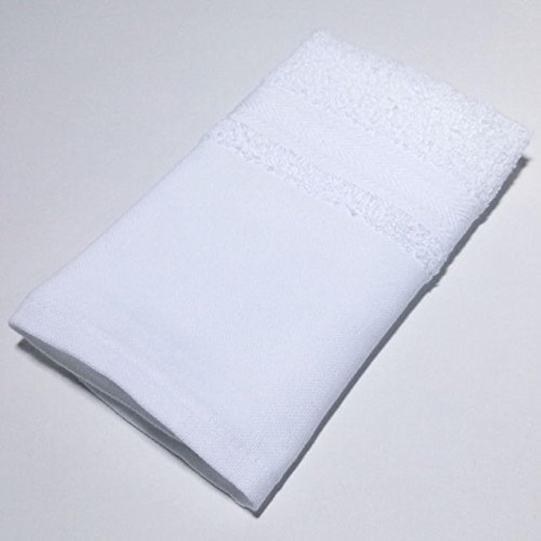160匁木綿地付きフェイスタオル 白 (12枚セット/1枚140円)日本製 泉州タオル 34×81
