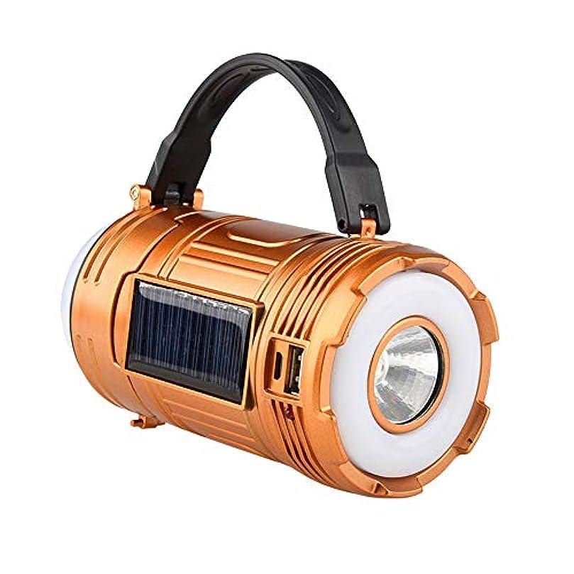 一時的自己消化ソーラーポータブルライト - アウトドア旅行テント照明USBコンパクトポータブルキャンプライト充電式懐中電灯非常灯