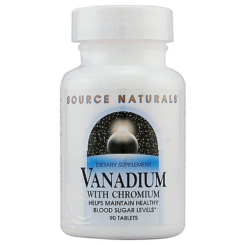 [海外直送品] Source Naturals バナジウム+クロミウム 90粒