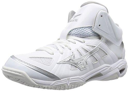 [ミズノ] バスケットボールシューズ ウエーブリアル BB7 メンズ ホワイト×シルバー 25.0 cm