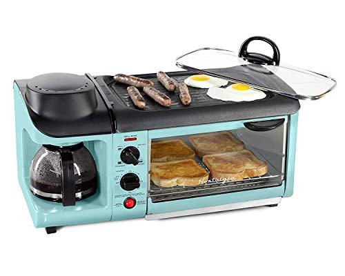 [Nostalgia] [Nostalgia BSET300BLUE Retro Series 3-in-1 Family Size Breakfast Station by Nostalgia] (並行輸入品)