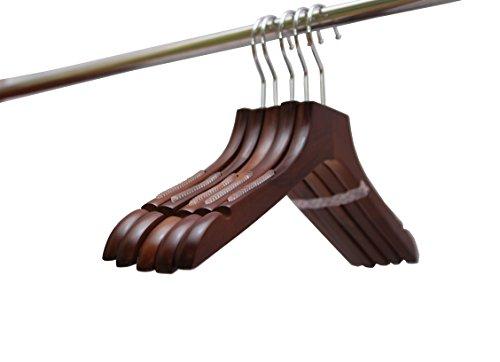 L.M.Hanger(エル.エム.ハンガー)高級木製ナチュラル 洋服ハンガー5本組セット