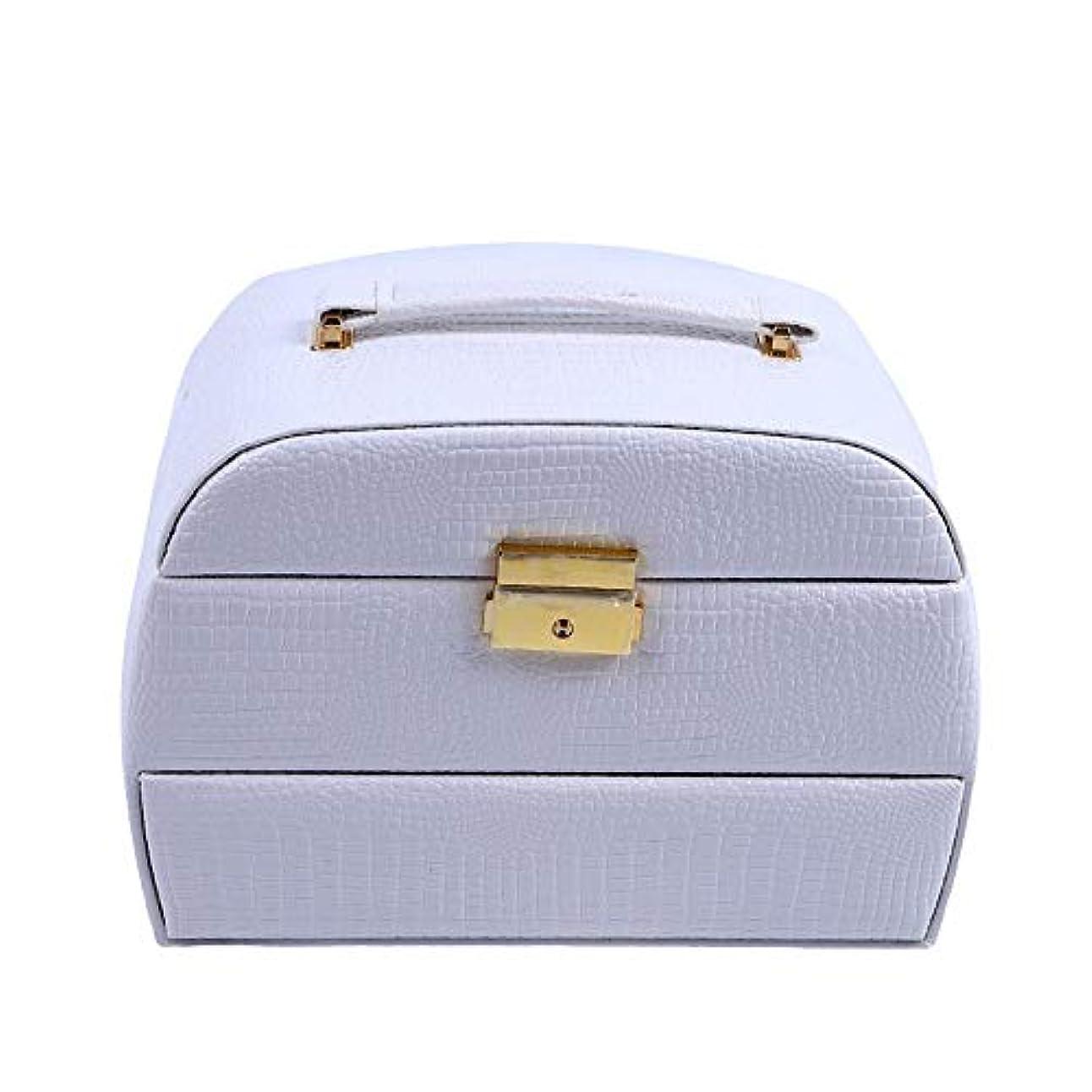 くさび活性化する計器化粧オーガナイザーバッグ 美容メイクアップのための大容量ポータブル化粧ケース、女性化粧ミラー付きのロック付き女性旅行と毎日の保管 化粧品ケース