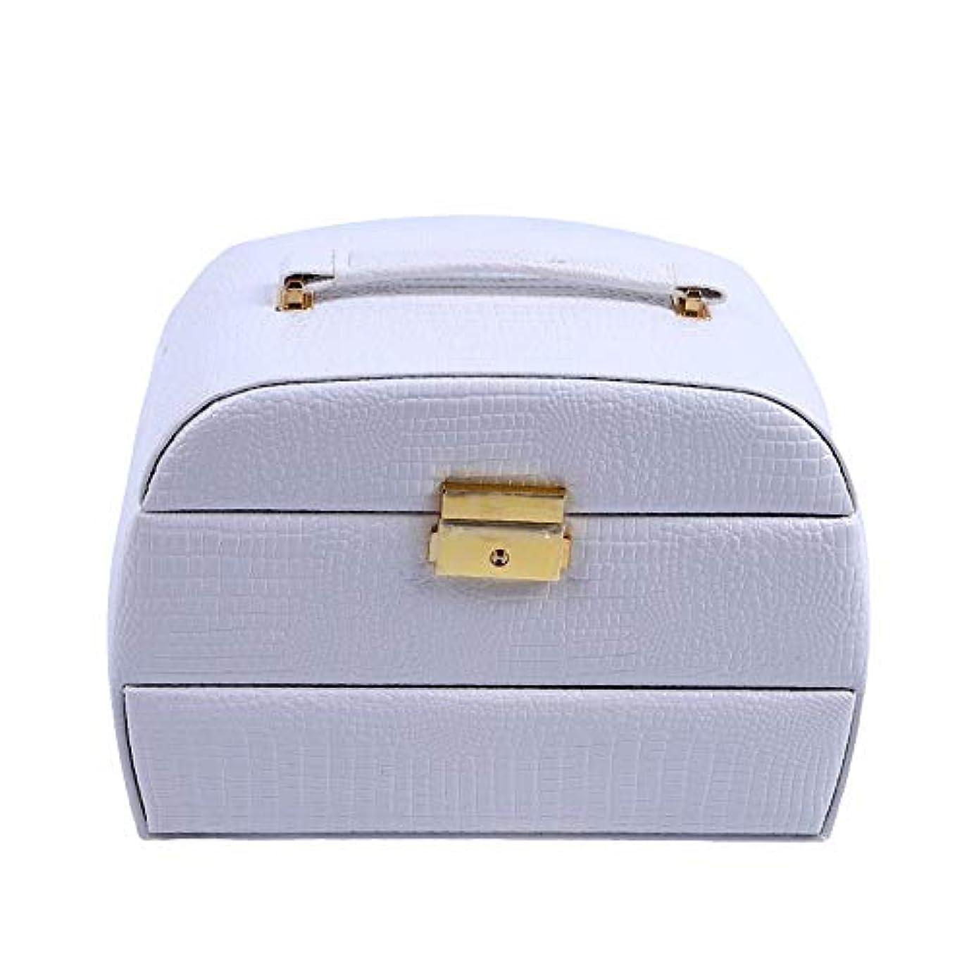 ドライバやさしいデザイナー化粧オーガナイザーバッグ 美容メイクアップのための大容量ポータブル化粧ケース、女性化粧ミラー付きのロック付き女性旅行と毎日の保管 化粧品ケース