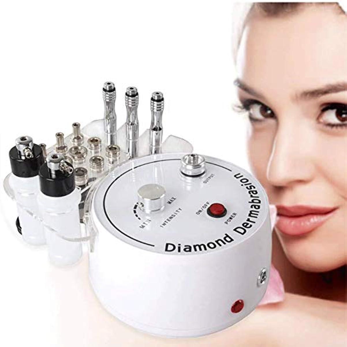 ラウズ上記の頭と肩親密な美容機、3 In1とダイヤモンドマイクロダーマ皮をむき機の水スプレー剥離皮膚剥離マシン除去リンクル