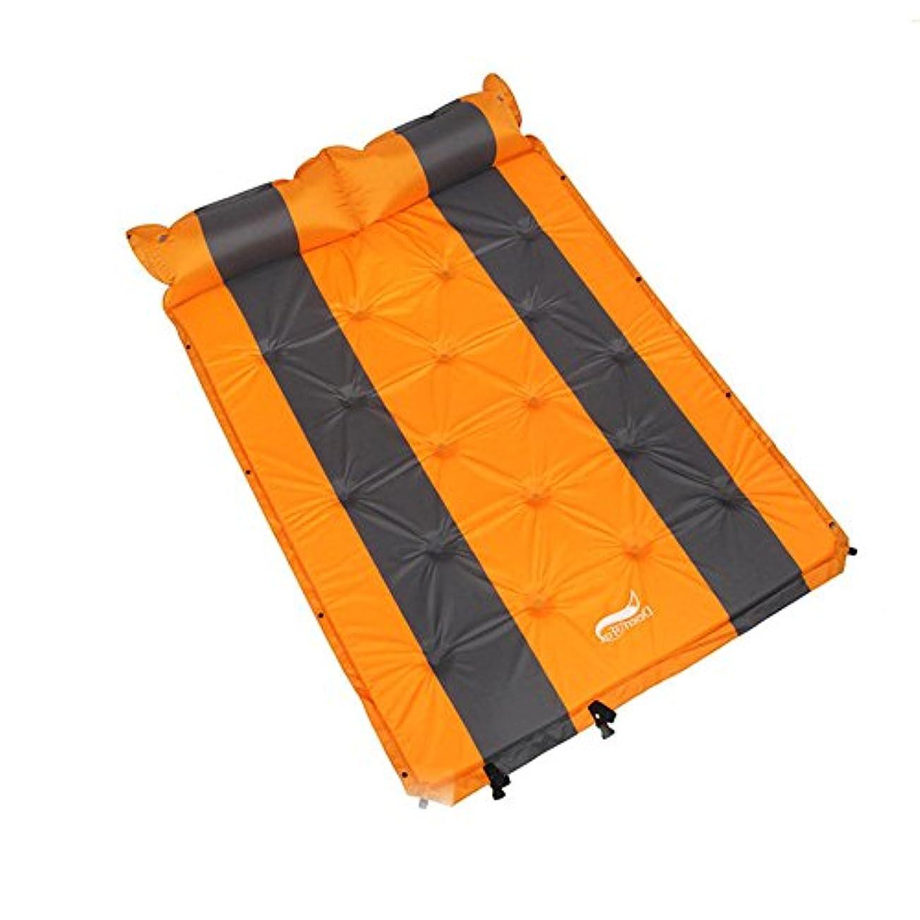 泥硬さ虐殺屋外のキャンプのための付属の膨脹可能な枕が付いている速い流れ弁そして二重膨脹可能な寝台、自己膨脹の空気の寝台を背負ってバックパッキング、