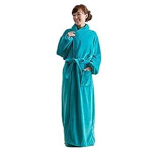 mofua ( モフア ) 着る毛布 プレミアムマイクロファイバー ガウンタイプ フリー ターコイズ 50036629