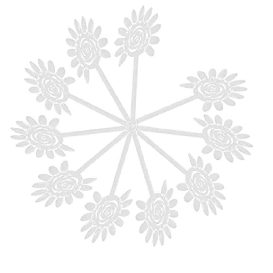 高尚な瀬戸際運賃Vaorwne Vaorwne(R)10Xアクリル透明ネイルアートチップディスプレイファンカードプレート ネイルDIYツール