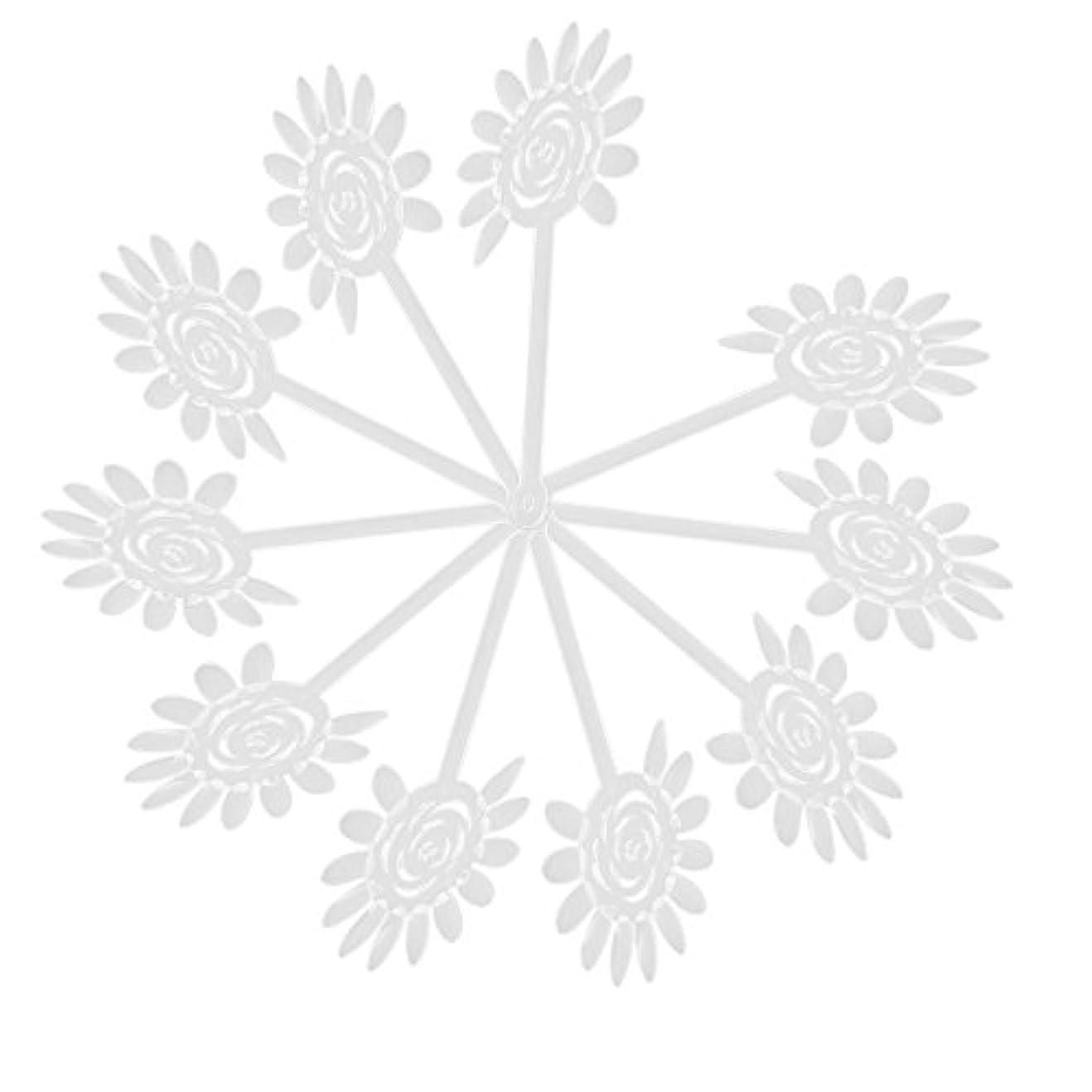 より多い羊飼い回転するVaorwne Vaorwne(R)10Xアクリル透明ネイルアートチップディスプレイファンカードプレート ネイルDIYツール