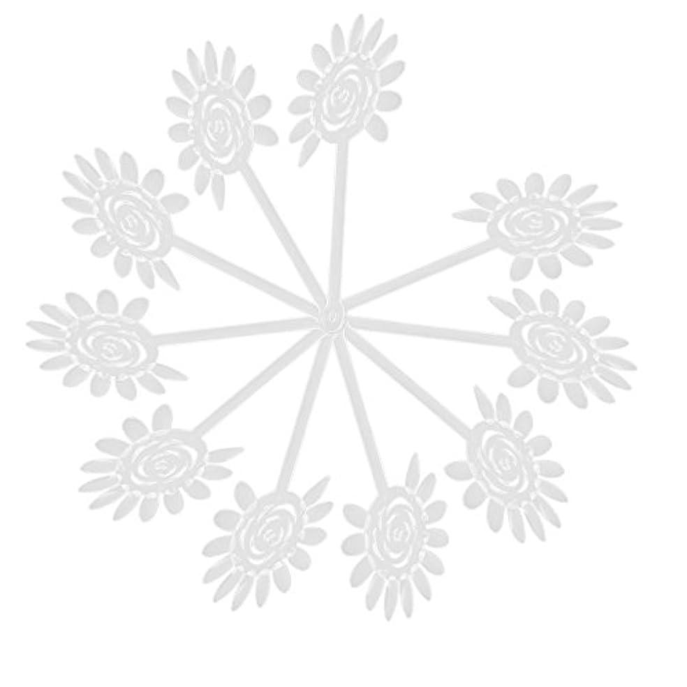 ロッド空白計算RETYLY RETYLY(R)10Xアクリル透明ネイルアートチップディスプレイファンカードプレート ネイルDIYツール