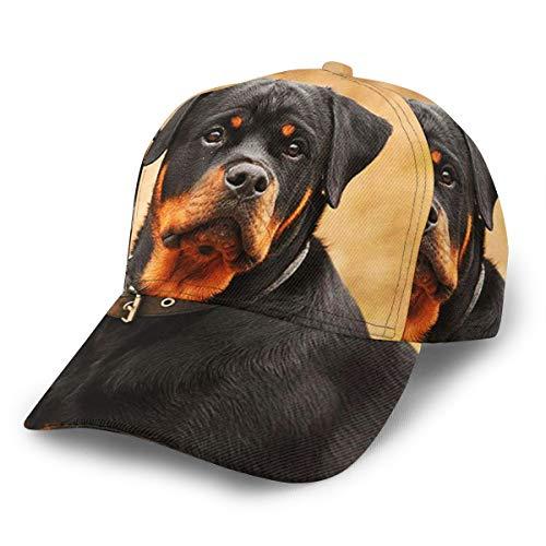 キャップ 帽子 メンズ レディース ロットワイラーの肖像大型ドイツ犬 登山 釣り ゴルフ 運転 アウトドア 野球帽 調節可能 春夏秋冬 男女兼用