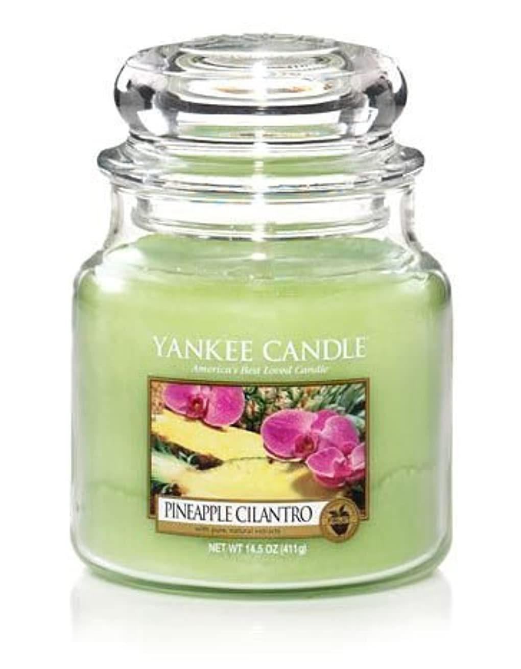 サミュエルガムマットYankee Candle Pineapple Cilantro Medium Jar 14.5oz Candle by Amazon source [並行輸入品]