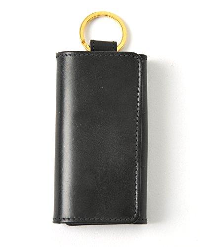 (ホワイトハウスコックス)Whitehouse Cox KEY CASE WITH RING/ブライドルレザー キーケース・s-9692(one)(black)