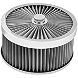 Proflow AF-230102S Air Cleaner Flow Top Stainless Steel 9' x 4' Suit 5-1/8' Flat Base - Size: Air Cleaner Flow Top Stainless Steel 9' x 4' Suit 5-1/8' Flat Base