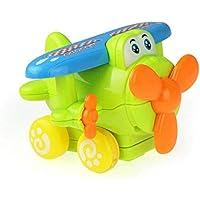 Kizaen キッズ カートゥーン プッシュ学習 早期教育玩具 双方向空中飛行機おもちゃ 子供/男の子/女の子/子供へのギフト グリーン