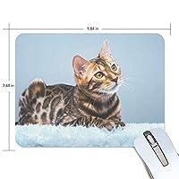 マウスパッド かわいい 茶色 ねこ 猫柄 疲労低減 ゲーミングマウスパッド 9 X 25 厚い 耐久性が良い 滑り止めゴム底 滑りやすい表面