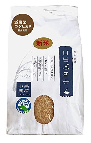 【減農薬】産地直送 福井県 玄米 コシヒカリ(ひらぶき米)30kg 令和元年産