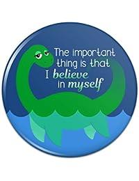 ネス湖の怪物重要なことは自分自身を信じることですピンバックボタンピンバッジ - 3