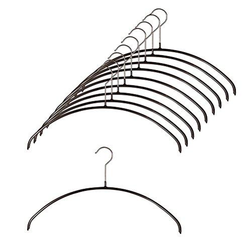 すべり落ちない MAWAハンガー カットソー・アンサンブル用 レディースライン ダークブラウン dark brown (40/P 10本組)