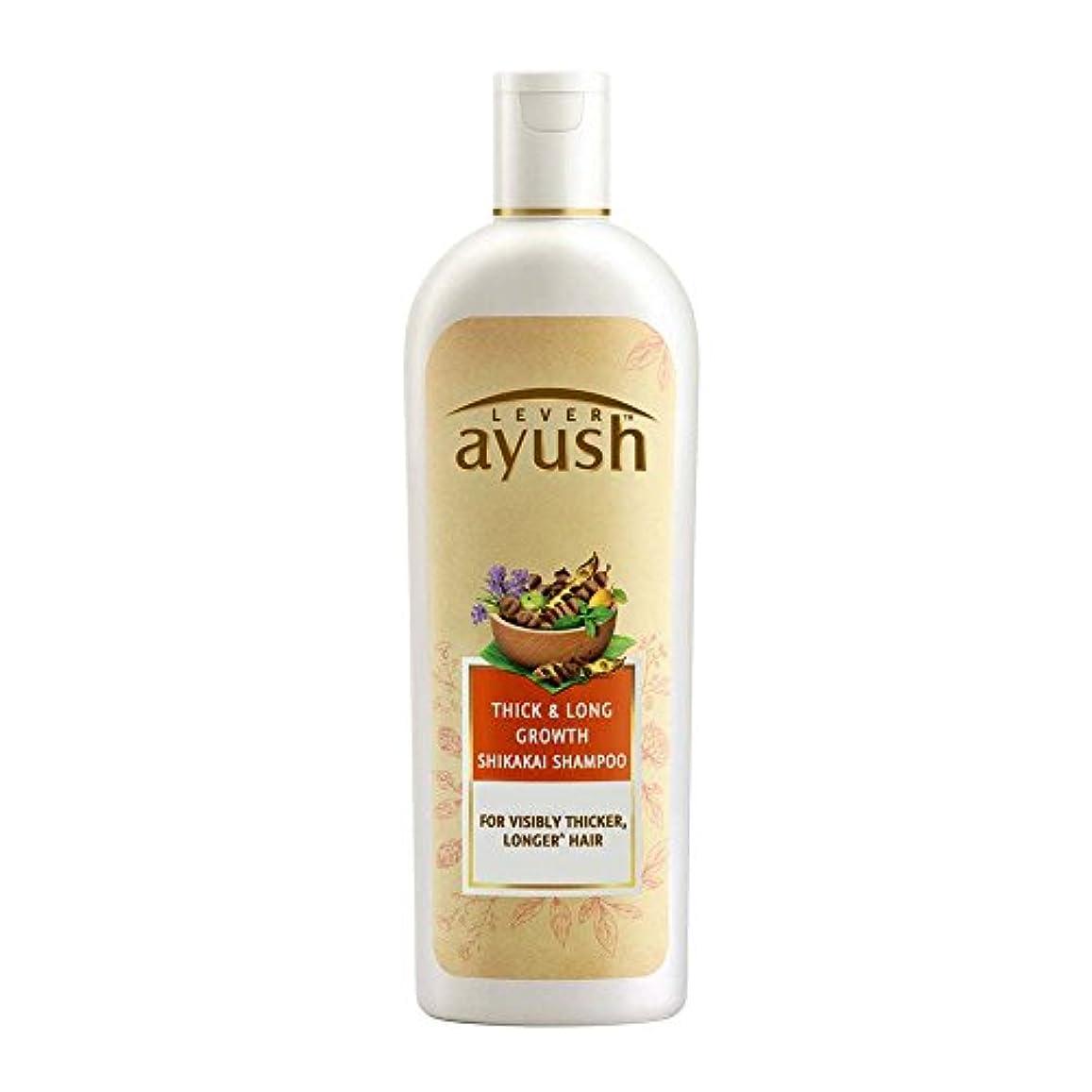 眠っている剥離ニュージーランドLever Ayush Thick and Long Growth Shikakai Shampoo, 175ml - 並行輸入品 - レバーアユッシュシック&ロンググローブシカカイシャンプー、175ml