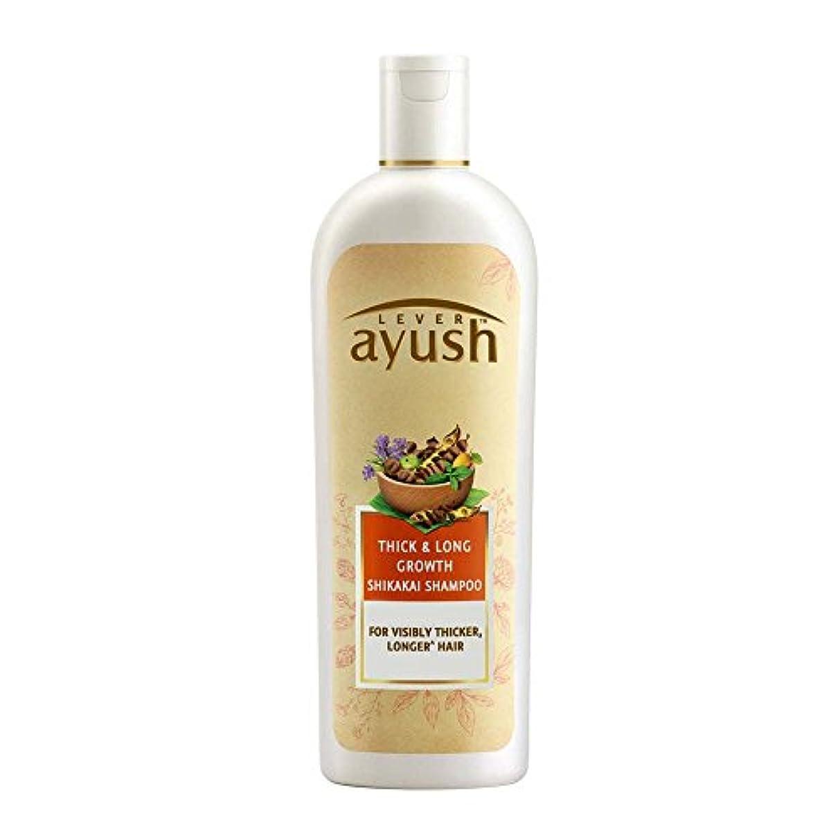 払い戻し鉄ライムLever Ayush Thick and Long Growth Shikakai Shampoo, 175ml - 並行輸入品 - レバーアユッシュシック&ロンググローブシカカイシャンプー、175ml