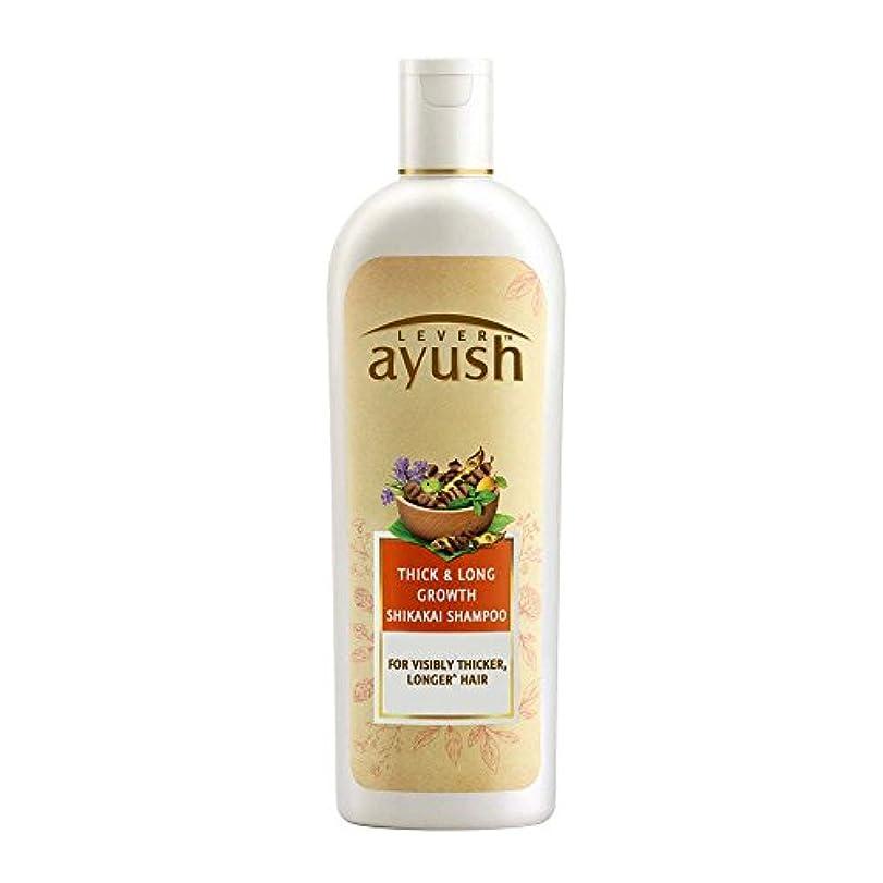 絡まる借りている楽なLever Ayush Thick and Long Growth Shikakai Shampoo, 175ml - 並行輸入品 - レバーアユッシュシック&ロンググローブシカカイシャンプー、175ml