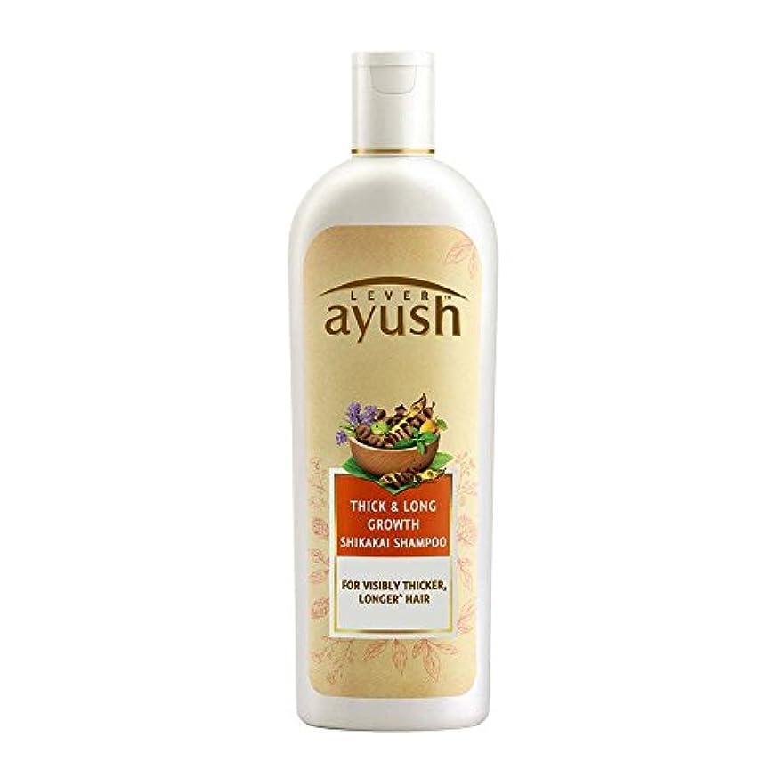 クリップ属する蛇行Lever Ayush Thick and Long Growth Shikakai Shampoo, 175ml - 並行輸入品 - レバーアユッシュシック&ロンググローブシカカイシャンプー、175ml