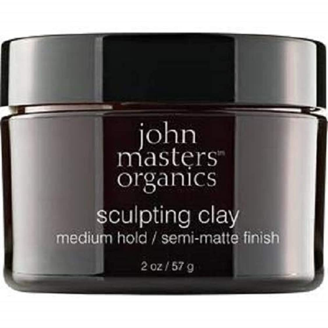 会計士望むの量John Masters Organics Sculpting Clay medium hold / semi-matt finish 2 OZ,57 g