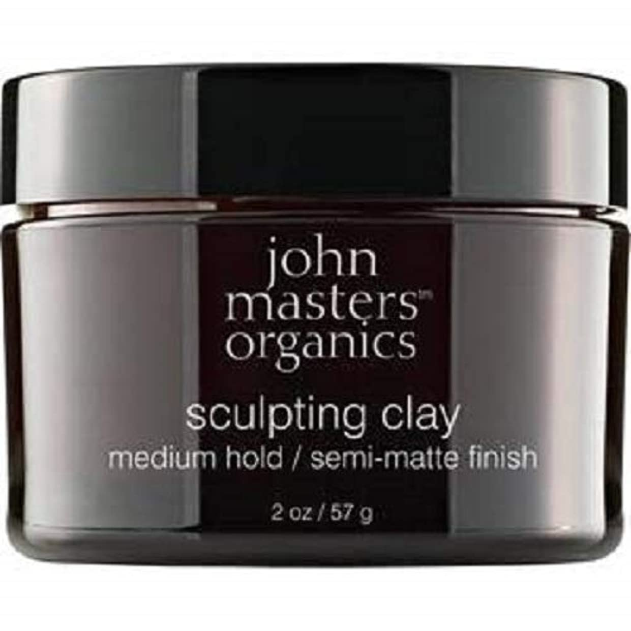 ジャーナリスト主同じJohn Masters Organics Sculpting Clay medium hold / semi-matt finish 2 OZ,57 g