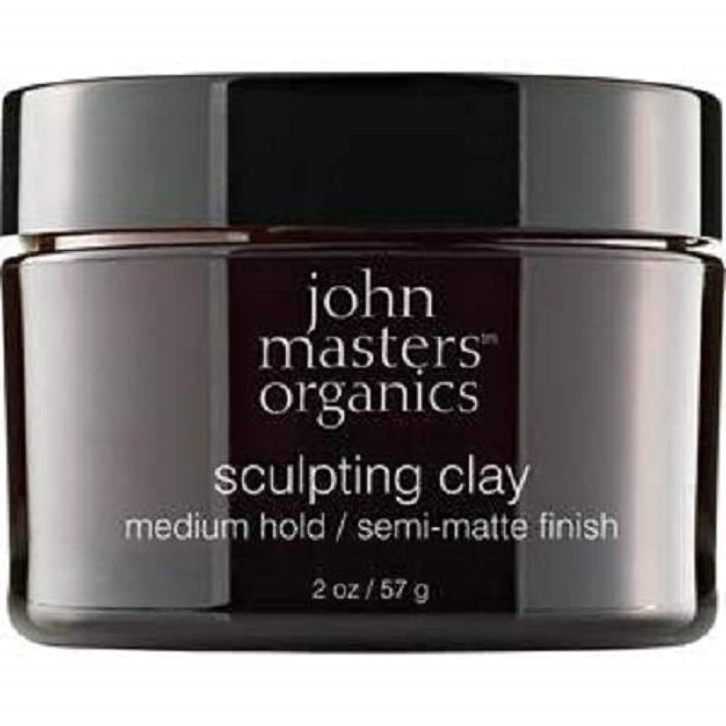 サーキュレーション実質的愛国的なJohn Masters Organics Sculpting Clay medium hold / semi-matt finish 2 OZ,57 g