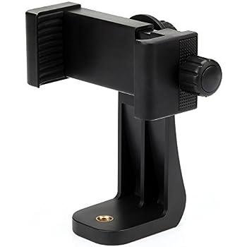 Zacro スマートフォンホルダー iPhone用三脚スタンド 三脚・一脚用アダプター 360°回転可能