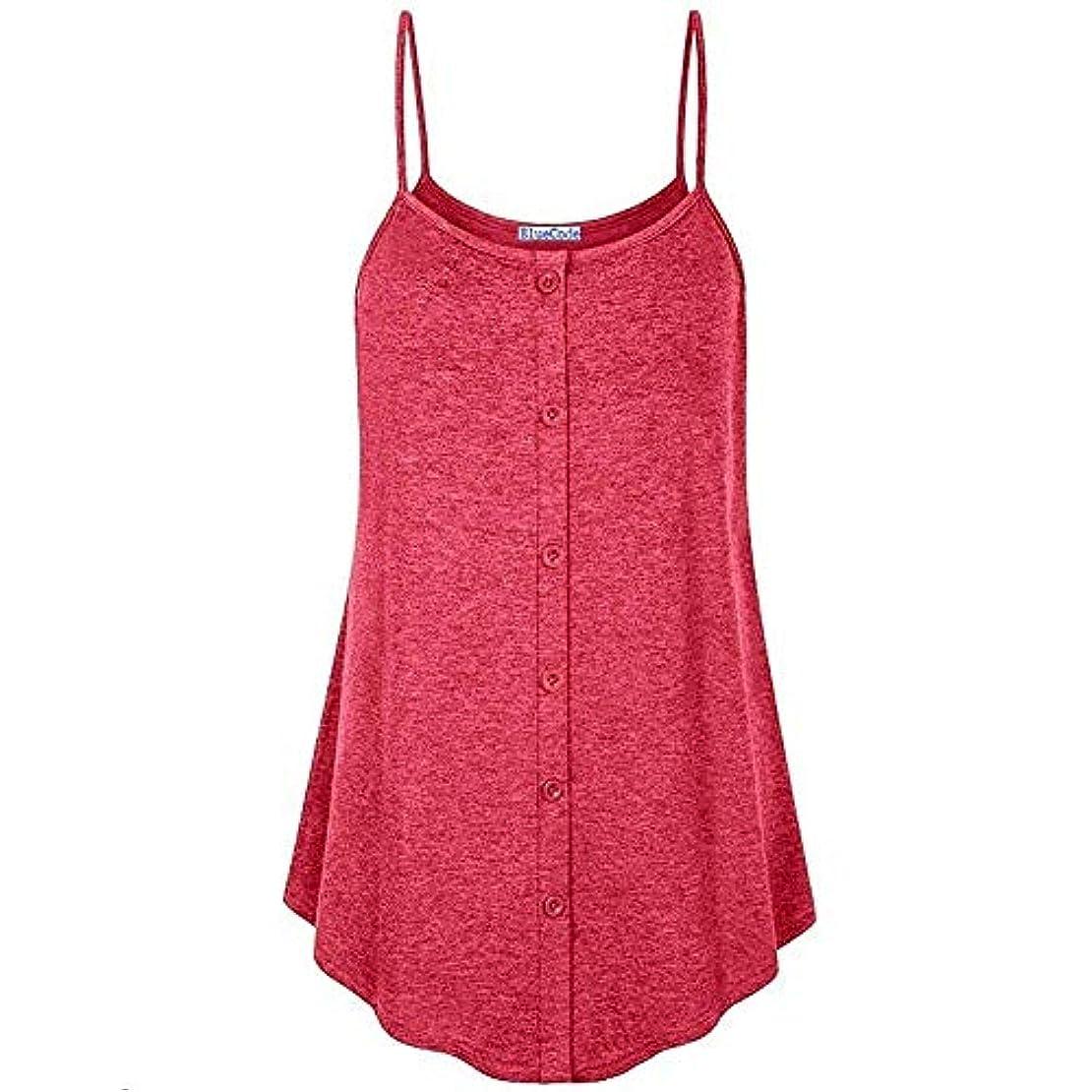 ダンプ厳しい豊富にMIFANコットンTシャツソリッドカラースリングシャツビーチウェアOネックボタンステッチキャミソールタンクトップ