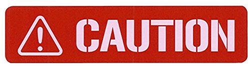 東洋マーク製作所 CAUTION コーション 高輝度反射 スモール ステッカー レッド 3499
