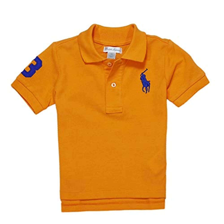 (ラルフローレン) RALPH LAUREN ベビー 男の子 半袖 ポロシャツ Cotton Mesh Polo Shirt タイ オレンジ Thai Orange (9M) [並行輸入品]