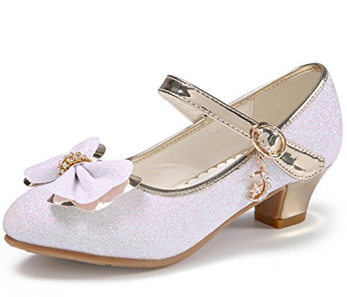 1fce758c63369 Candykids 女の子 ドレスシューズ ピアノ発表会靴 滑り止め フォーマル靴 シングルシューズ ハイヒール パフォーマンスシューズ 踊り靴  (内寸22cm