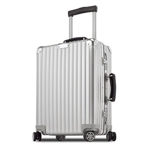 (リモワ) RIMOWA スーツケース キャリーバッグ CLASSIC FLIGHT クラシックフライト CABIN MULTIWHEEL 971.53.00.4 [TSAロック 日本語取扱説明書 1年保証 付き] (35L, シルバー)