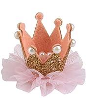 KOZEEYかわいい 素敵 クラウンヘアピン レース 子供 赤ん坊 子供 ヘア クリップ 装飾 金